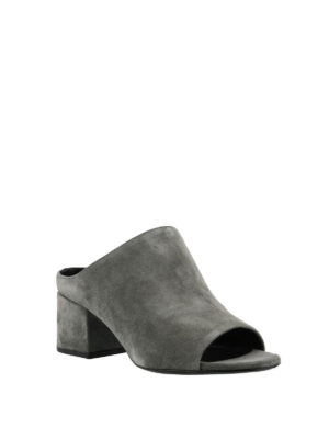 Phillip Lim: mules shoes online - Cube stone suede mules