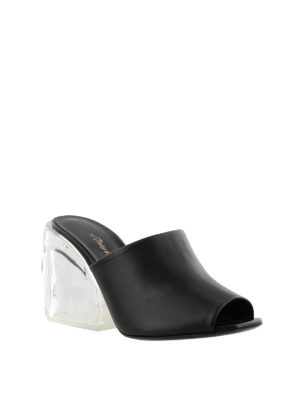 Phillip Lim: mules shoes online - Leather Plexi-Heel mules