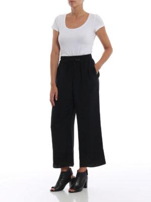 PHILLIP LIM: pantaloni casual online - Pantaloni crop a gamba ampia in seta