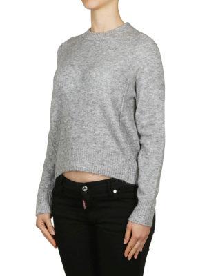 PHILLIP LIM: maglia collo rotondo online - Pull morbido grigio in misto alpaca