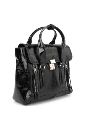 Phillip Lim: shoulder bags online - Pashli medium patent leather bag