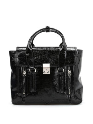 Phillip Lim: shoulder bags - Pashli medium patent leather bag