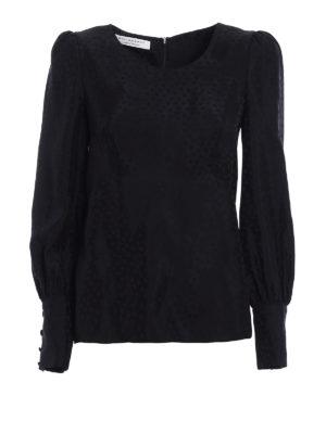 Philosophy di Lorenzo Serafini: blouses - Belted jacquard satin blouse