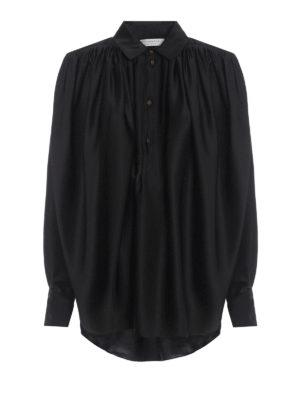 e20f13bac9d29 Philosophy di Lorenzo Serafini  bluse - Blusa nera over effetto seta
