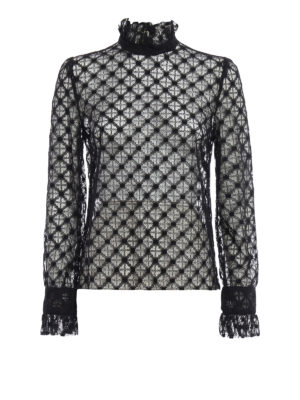 Philosophy di Lorenzo Serafini: blouses - Liz see-through lace blouse