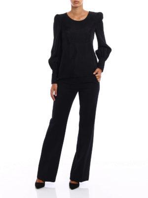Philosophy di Lorenzo Serafini: blouses online - Belted jacquard satin blouse