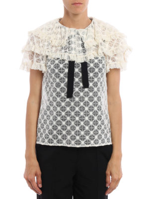 Philosophy di Lorenzo Serafini: blouses online - Flounced and frilled lace blouse