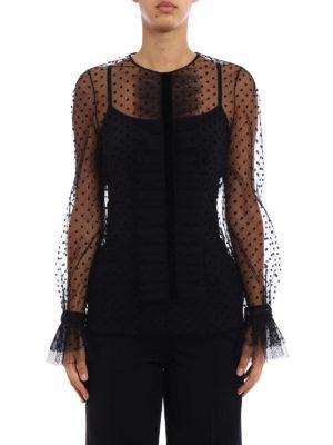 Philosophy di Lorenzo Serafini: blouses online - Velvet polka dot tulle blouse