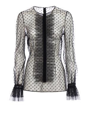 Philosophy di Lorenzo Serafini: blouses - Velvet polka dot tulle blouse