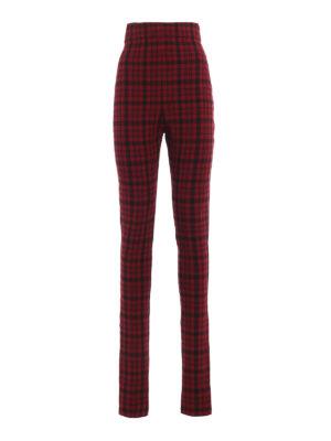 Philosophy di Lorenzo Serafini: pantaloni casual - Pantaloni a vita altissima in jersey tartan