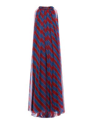 Philosophy di Lorenzo Serafini: cocktail dresses - Oblique striped silk long dress