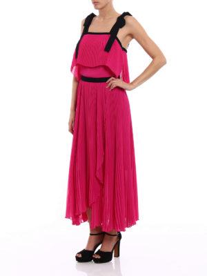 Philosophy di Lorenzo Serafini: cocktail dresses online - Pleated light cady fuchsia dress