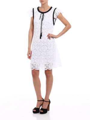 Philosophy di Lorenzo Serafini: cocktail dresses online - White lace dress with tassels