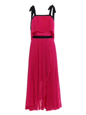 Philosophy di Lorenzo Serafini: cocktail dresses - Pleated light cady fuchsia dress