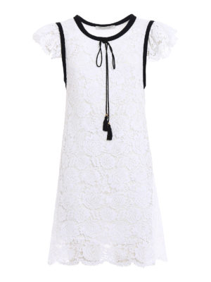 Philosophy di Lorenzo Serafini: cocktail dresses - White lace dress with tassels