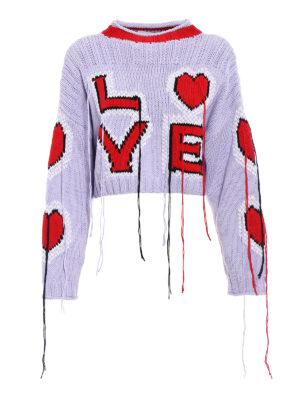 Philosophy di Lorenzo Serafini: crew necks - Cotton sweater with threads