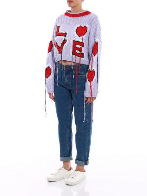 Philosophy di Lorenzo Serafini: crew necks online - Cotton sweater with threads