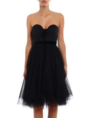Philosophy di Lorenzo Serafini: evening dresses online - Tulle skirt flared strapless dress