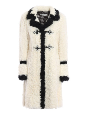 Philosophy di Lorenzo Serafini: Fur & Shearling Coats - Contrasting trimmed sheep fur coat