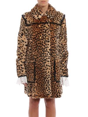 Philosophy di Lorenzo Serafini: Fur & Shearling Coats online - Animal print fur coat