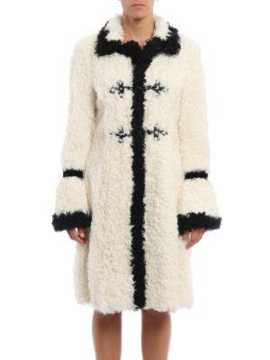 Philosophy di Lorenzo Serafini: Fur & Shearling Coats online - Contrasting trimmed sheep fur coat