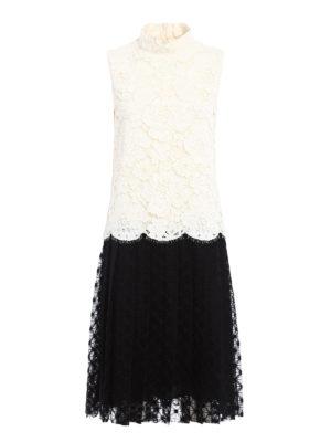 Philosophy di Lorenzo Serafini: knee length dresses - Bicolour lace and macramé dress