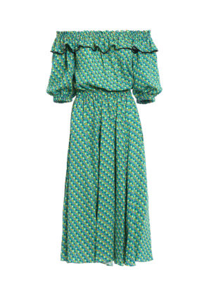 Philosophy di Lorenzo Serafini: knee length dresses - Mini hearts patterned cady dress
