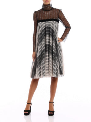 Philosophy di Lorenzo Serafini: knee length dresses online - Embellished lace tulle dress