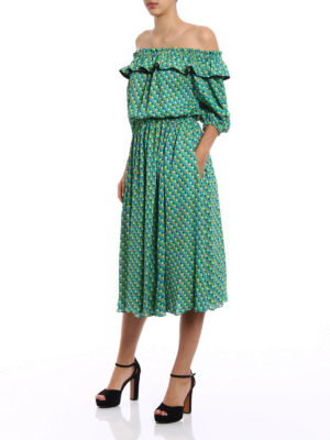 Philosophy di Lorenzo Serafini: knee length dresses online - Mini hearts patterned cady dress