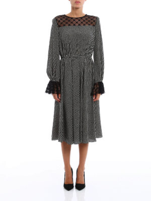 Philosophy di Lorenzo Serafini: knee length dresses online - Silk and lace dress