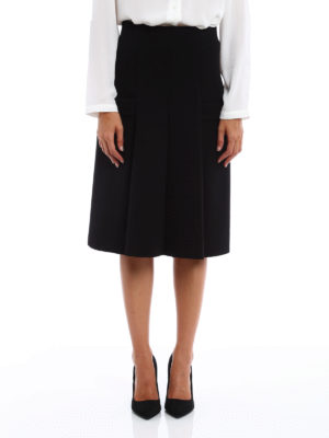 Philosophy di Lorenzo Serafini: Knee length skirts & Midi online - Pleated pocketed skirt