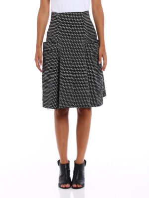 Philosophy di Lorenzo Serafini: Knee length skirts & Midi online - Stars print wool flared skirt
