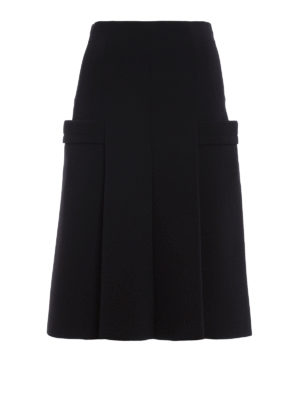 Philosophy di Lorenzo Serafini: Knee length skirts & Midi - Pleated pocketed skirt