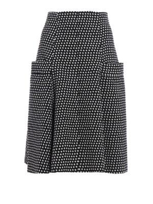 Philosophy di Lorenzo Serafini: Knee length skirts & Midi - Stars print wool flared skirt