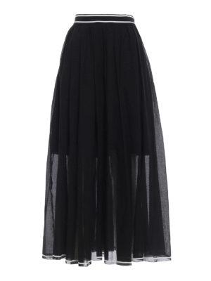 Philosophy di Lorenzo Serafini: Long skirts - Cotton muslin long skirt