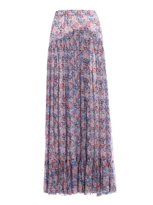 Philosophy di Lorenzo Serafini: Long skirts - Floral patterned pleated long skirt