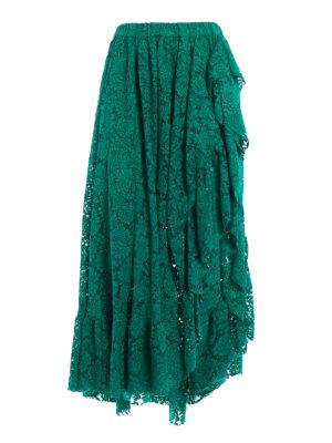 Philosophy di Lorenzo Serafini: Long skirts - Frilled long lace skirt