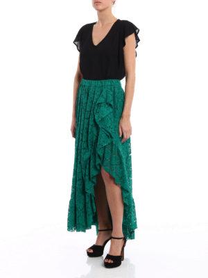 Philosophy di Lorenzo Serafini: Long skirts online - Frilled long lace skirt