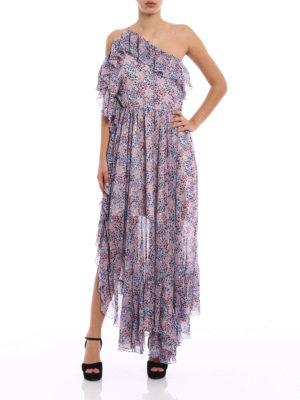 Philosophy di Lorenzo Serafini: maxi dresses online - Pattern flounced one-shoulder dress