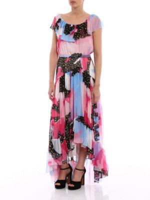 Philosophy di Lorenzo Serafini: maxi dresses online - Silk chiffon patterned dress