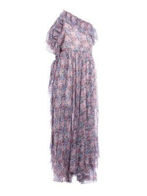 Philosophy di Lorenzo Serafini: maxi dresses - Pattern flounced one-shoulder dress