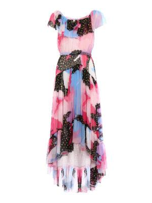 Philosophy di Lorenzo Serafini: maxi dresses - Silk chiffon patterned dress