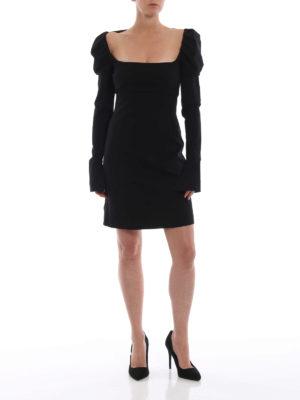 Philosophy di Lorenzo Serafini: abiti da cocktail online - Abito scollato in jersey stretch nero