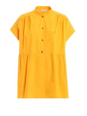 d68d31f6ebbee Philosophy di Lorenzo Serafini  camicie - Camicia arancione in cotone con  balza