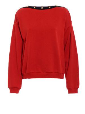Philosophy di Lorenzo Serafini: Sweatshirts & Sweaters - Cotton buttoned sweatshirt