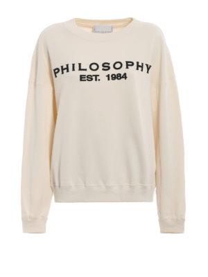 4344110c5ab82 Philosophy di Lorenzo Serafini  Felpe e maglie - Felpa con ricamo del logo  a rilievo