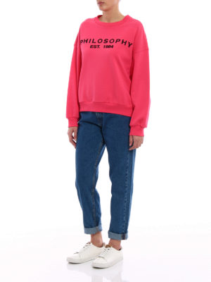 Philosophy di Lorenzo Serafini: Sweatshirts & Sweaters online - Cotton logo patch sweatshirt