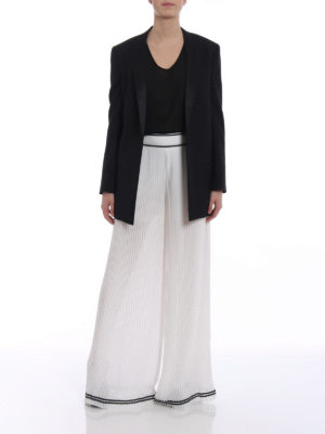 Philosophy di Lorenzo Serafini: Tailored & Formal trousers online - White pleated palazzo trousers