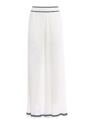 Philosophy di Lorenzo Serafini: Tailored & Formal trousers - White pleated palazzo trousers