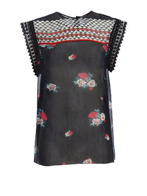 Philosophy di Lorenzo Serafini: Tops & Tank tops - Patterned top with passementerie